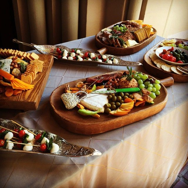 The Antipasto platters during the Aperitif