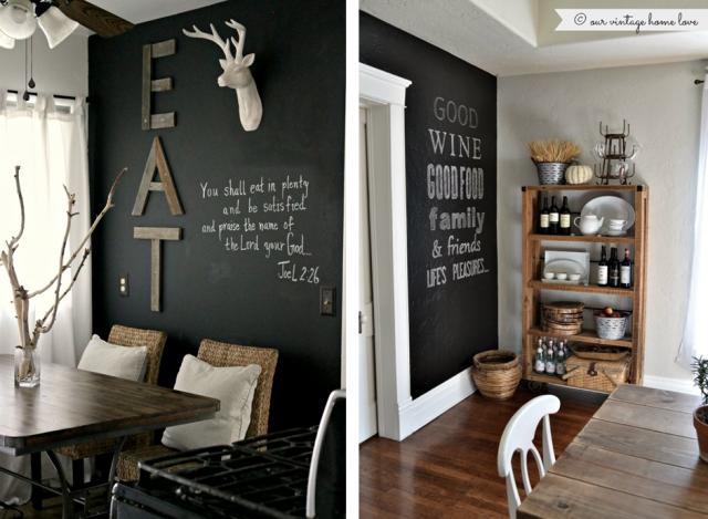 Idées pour un mur tableau noir kitchen hogar decoracion