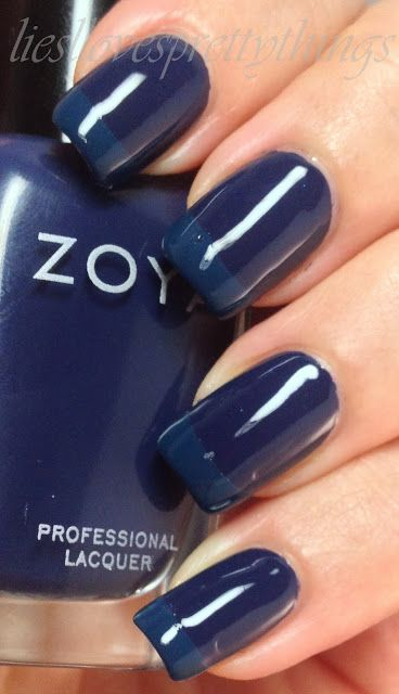 Tone-on-tone blue french feat. Zoya Sailor and Julep Eloise
