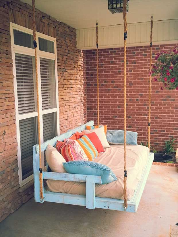 10 Incredible Diy Pallet Ideas With Low Budget Pallet Swing Beds Porch Swing Pallet Porch Swing Bed