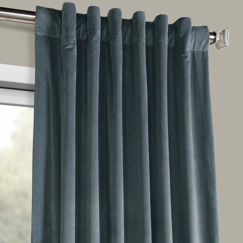 Livia Solid Room Darkening Thermal Rod Pocket Curtain Panel Rod