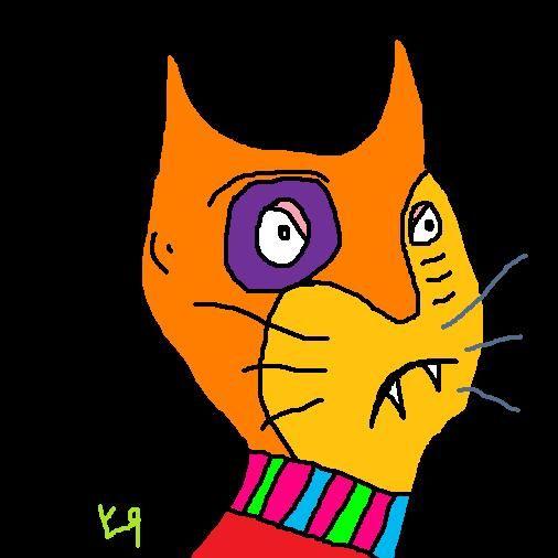 """Bruiser Cat-Man Gets a Shiner"" by Richard F. Yates"