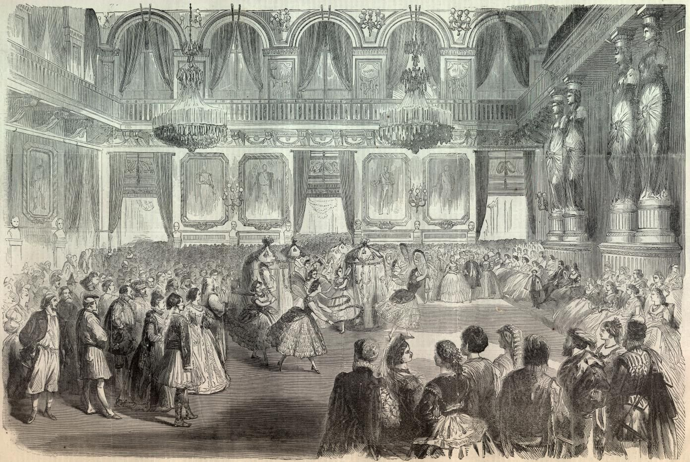 Quadrille At A Costume Ball At The Tuileries Palace Grand Ladies Gogm Costume Ball Tableaux Vivants Quadrille