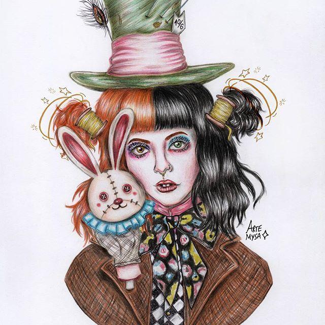 Drawing Of Melanie Martinez As The Mad Hatter By Artemysa On Instagram Melanie Martinez Mad Hatter Melanie Martinez Melanie Martinez Drawings