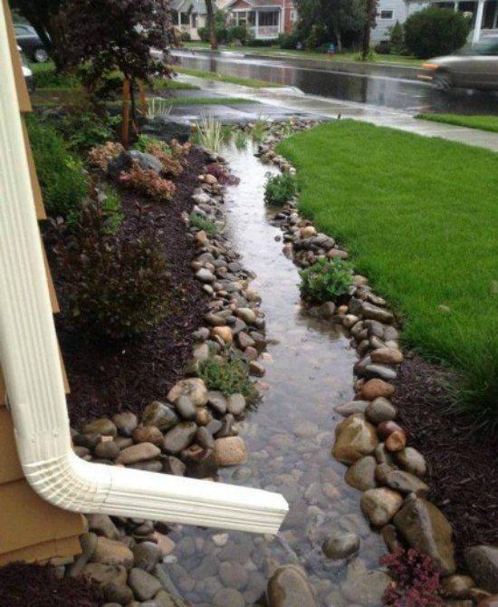 21 Creative Diy Downspout Ideas Backyard Backyard Landscaping Front Yard Landscaping