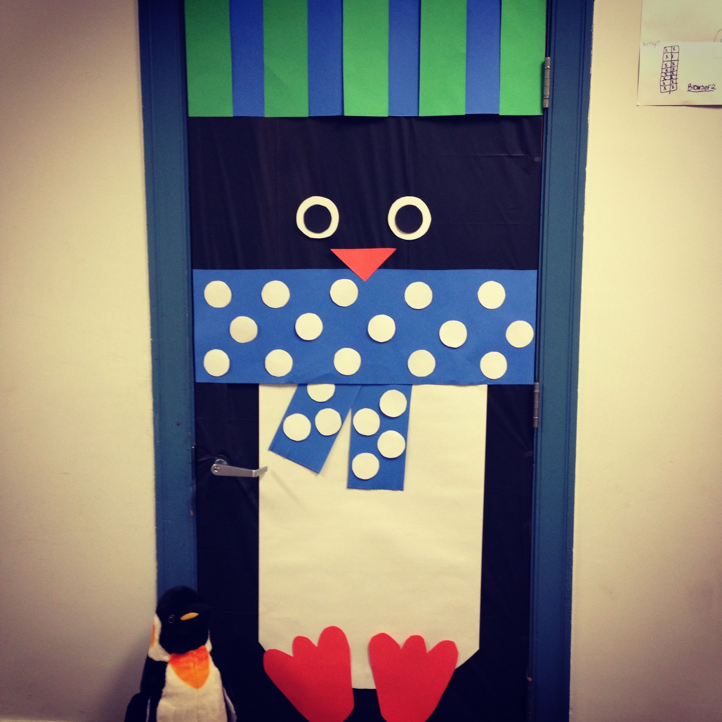I decorated my classroom door for our winter theme: penguins ...