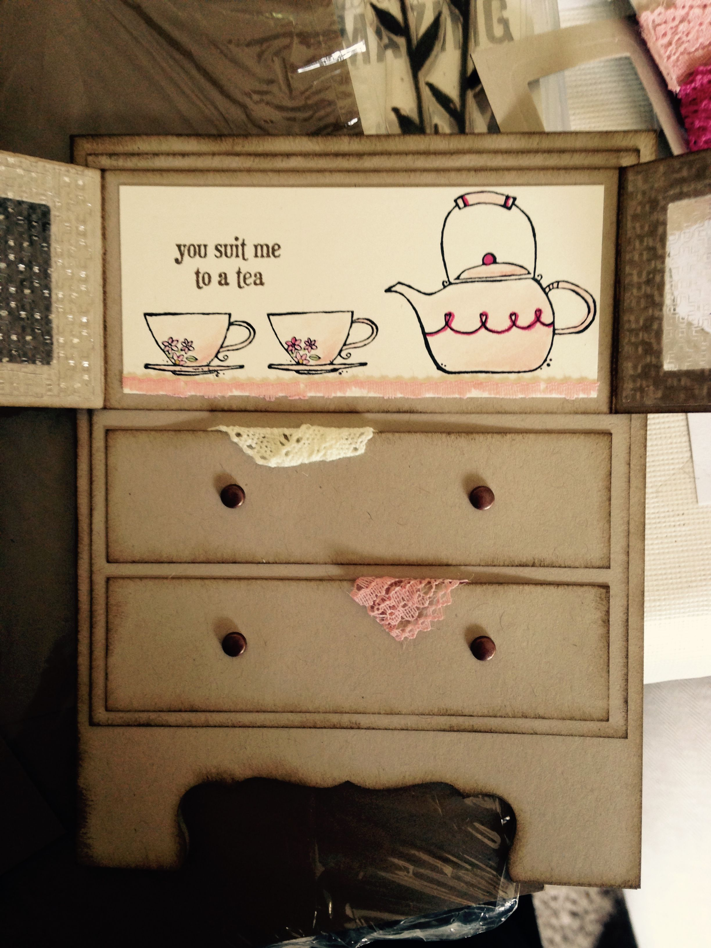 Idea by Sharon Gibbons on Made Dresser as nightstand