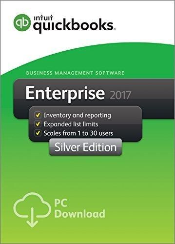 QuickBooks Desktop Enterprise 2017 Silver Edition Business Accounting Software 1-User [PC Download]