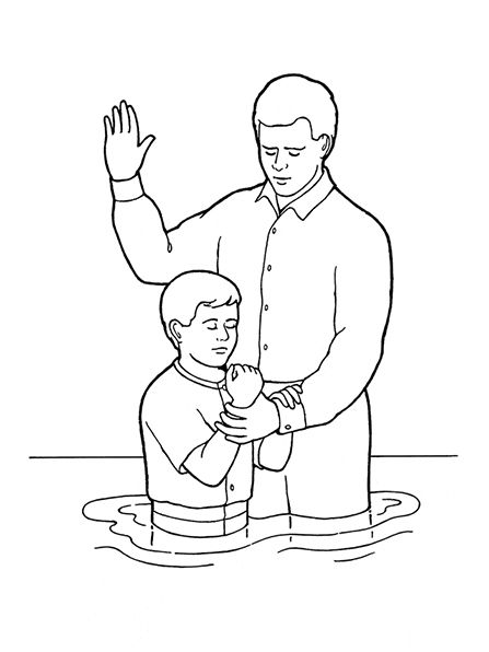 An illustration of a young boy being baptized, from the nursery ...