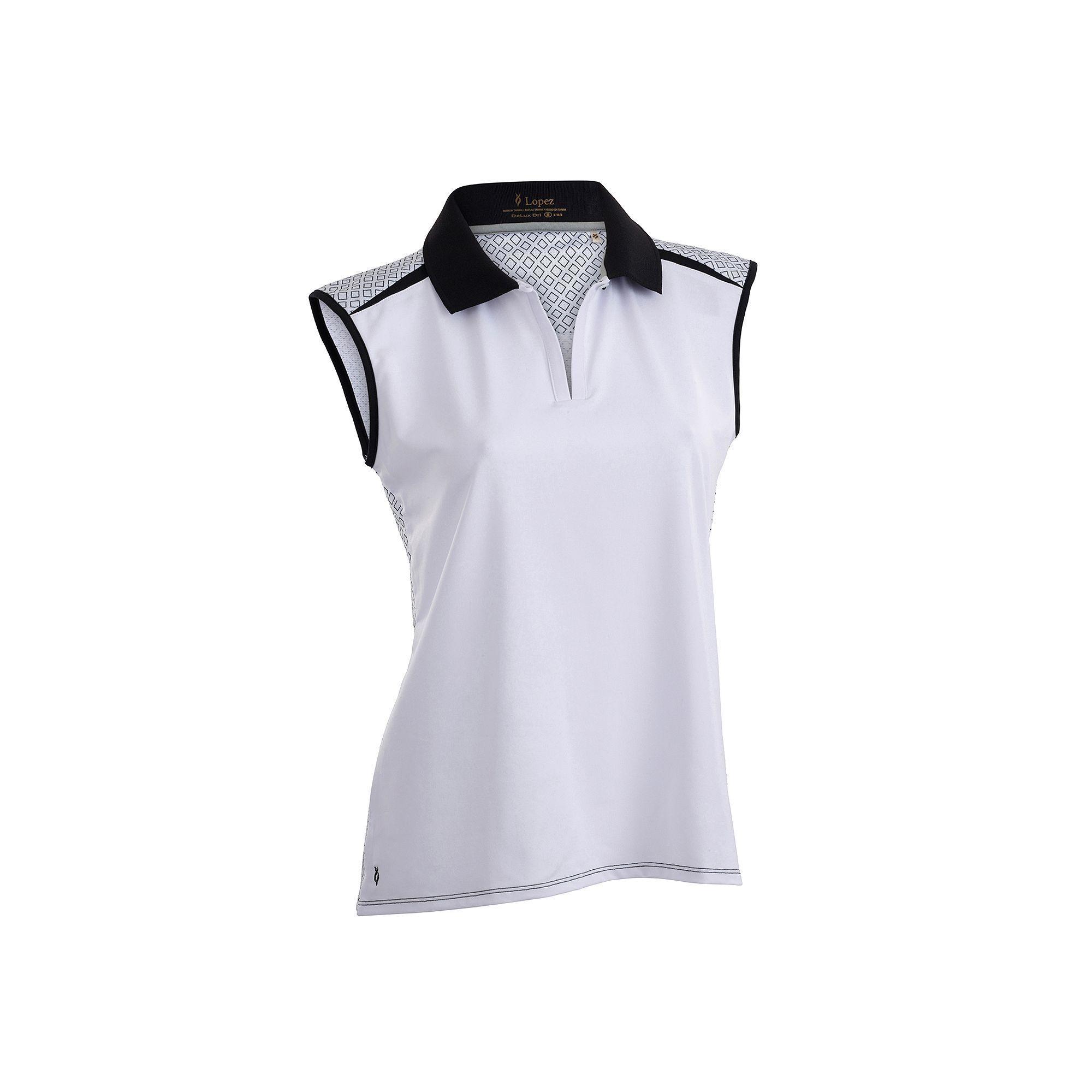 7d3df2b96f871 Plus Size Nancy Lopez Favor Sleeveless Golf Polo