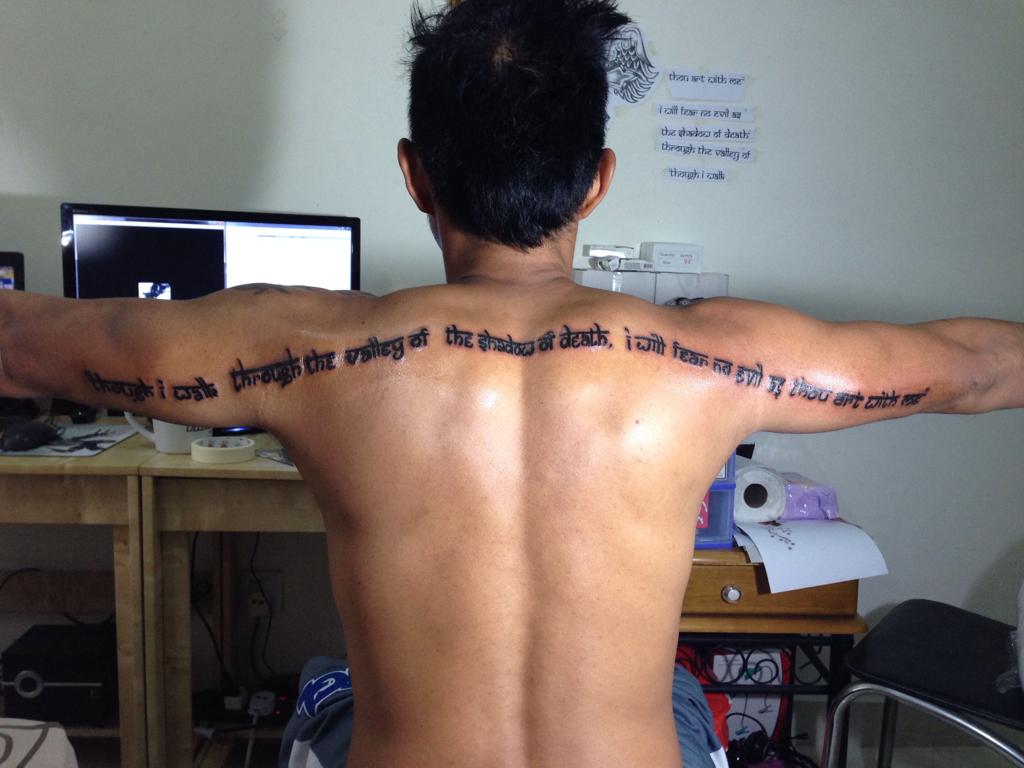 Fear no evil as thou art with me quot psalm 23 4 tattoo pinterest