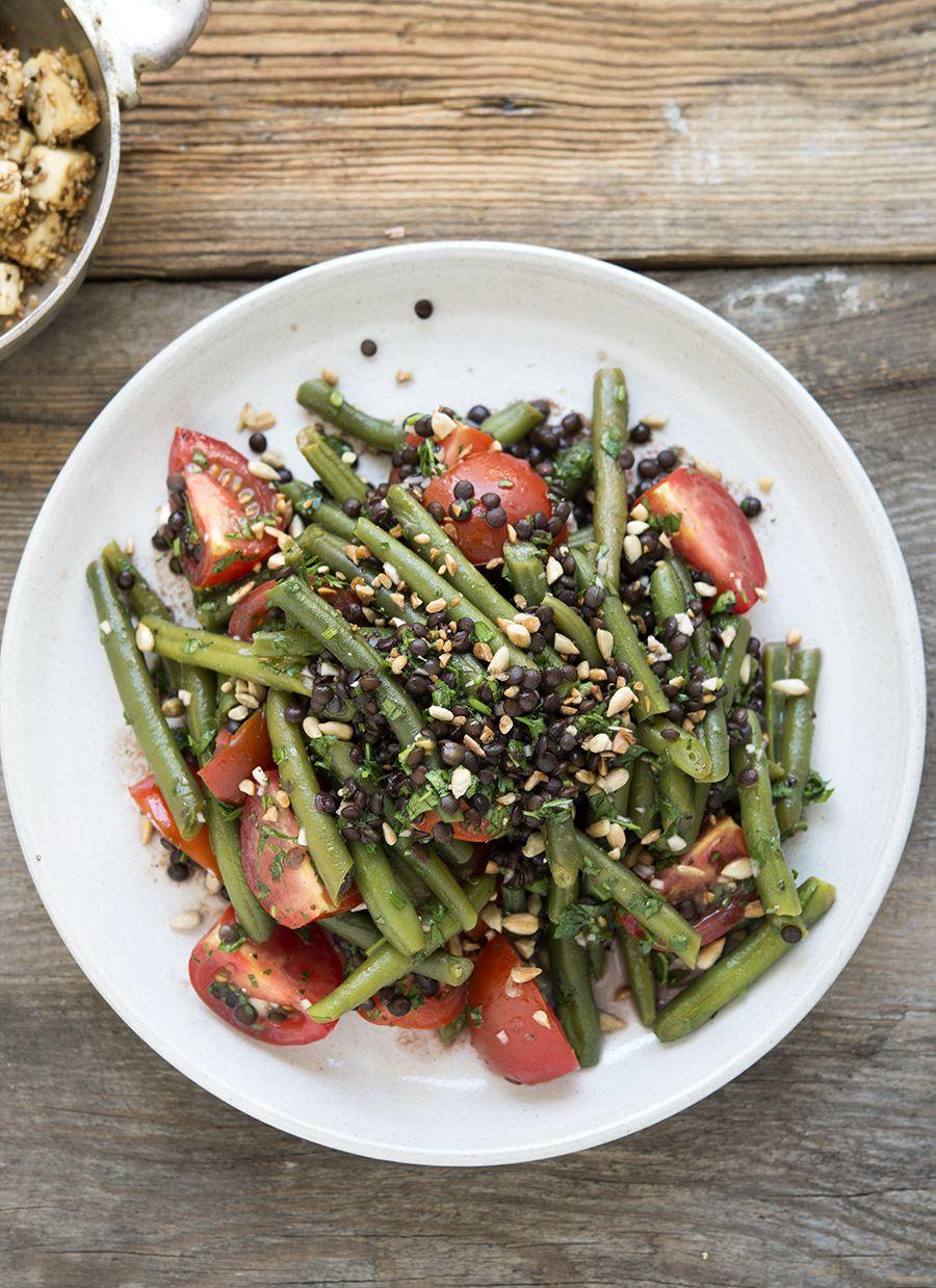 Bohnen, Linsen, Salat, Tomaten, Sommer, Garten,vegan, pflanzenbasiert, gesund, Nährwerte, Rezept, kochen, homemade, ganzheitlich