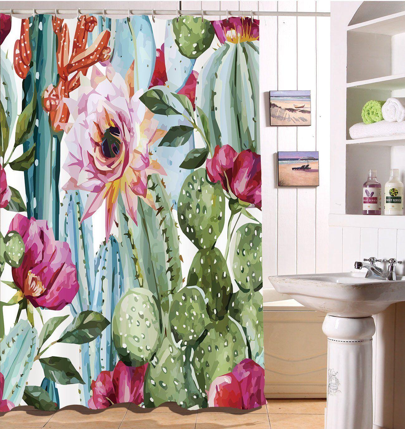 Amazon Com Decorations Shower Curtain Set By Lb Green Plants