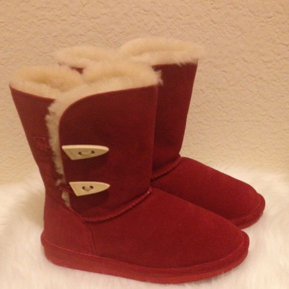 9c39e72a37fb Red BearPaw boots Size 6 BearPaw boots