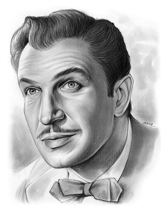 Vincent price a pencil sketch by greg joens