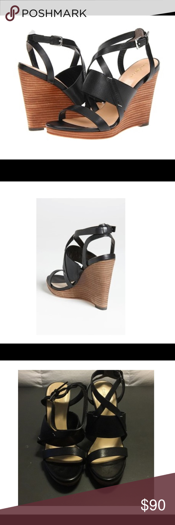 c3016ee1f Cole Haan Pelham Black Sandals A go-to sandal combines the sporty comfort  of Nike