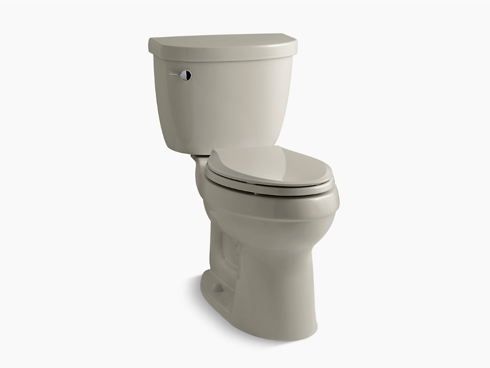 Cimarron Comfort Height Two Piece Elongated 1 28 Gpf Chair Height Toilet With Insulated Tank Toilet Cimarron Kohler