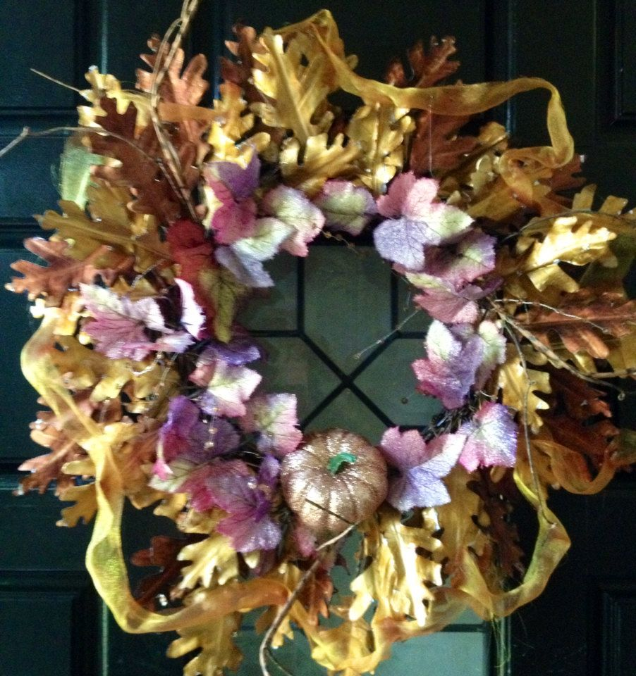 Fall Wreath, Thanksgiving Wreath, Christmas Wreath - pinned by pin4etsy.com
