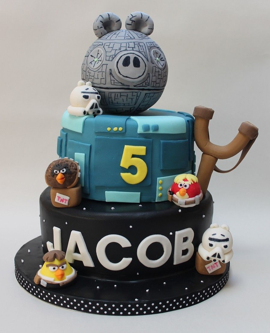 star wars angry birds cake cake angry bird pinterest angry birds cake bird cakes and. Black Bedroom Furniture Sets. Home Design Ideas