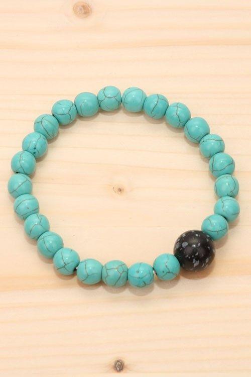 Sasha Beads - Torquise Marble