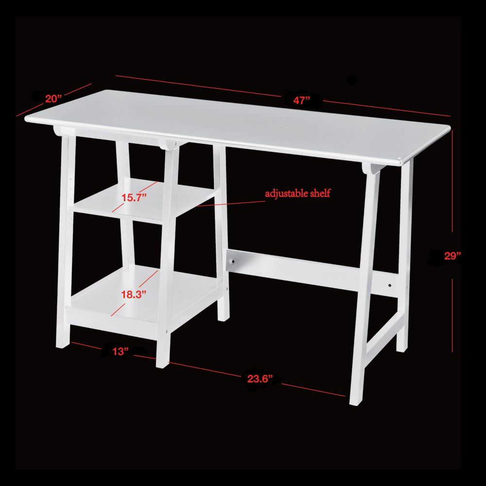 Simpler Desk Option If You Want To Try Out Set Up Without Committing Anchoring Hitch Wall Shelf Manhattan Open Computer With Adjule