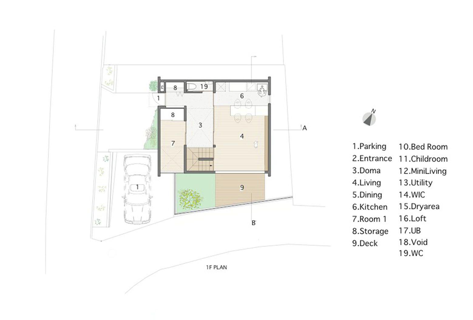 Image 16 of 21 from gallery of House in Ikoma / Arbol. Floor Plan