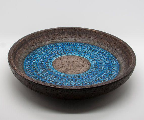 Bitossi ALDO LONDI Trifoglio Ceramics Bowl Tray Italian Design