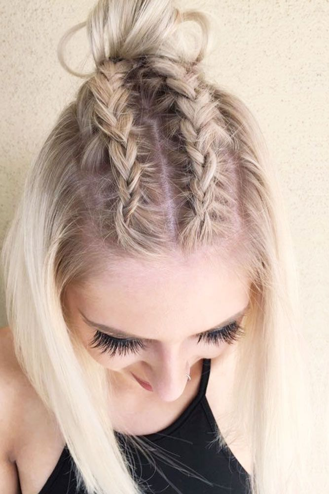 15 Cute Braided Hairstyles For Short Hair Lovehairstyles Com In 2020 Braids For Short Hair Hair Lengths Braided Hairstyles