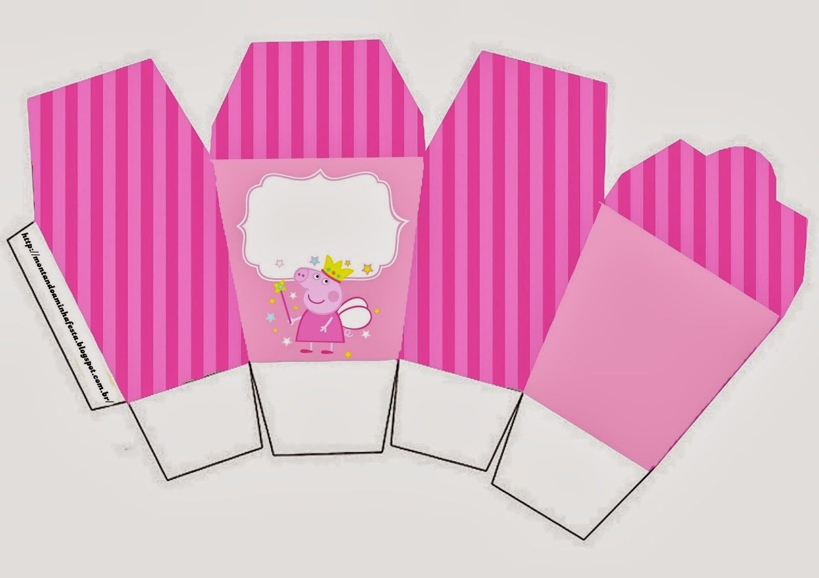 Fiesta de Peppa Pig Hada: Cajas para Imprimir Gratis.