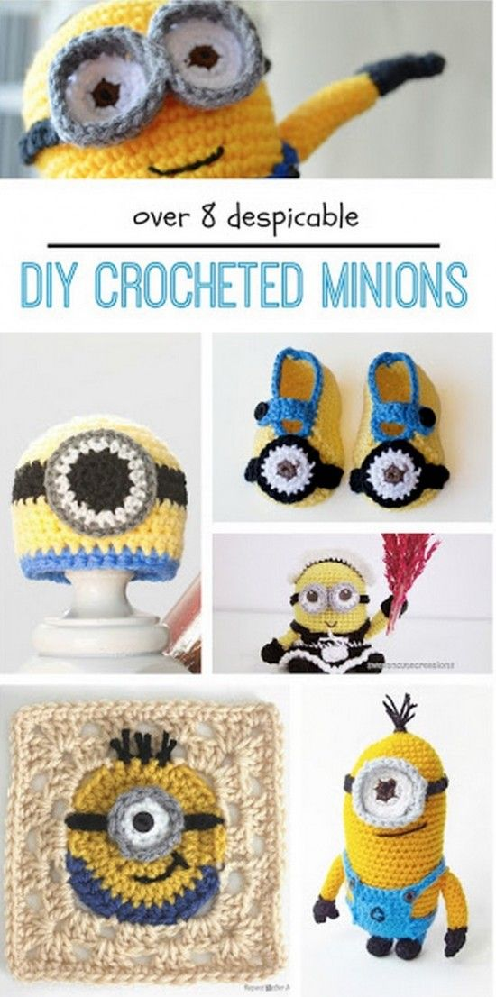 Crochet Minion Booties Pattern Is One Of Many | Tejidos de ganchillo ...