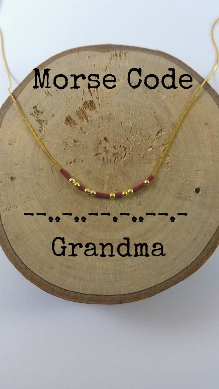 Photo of GRANDMA Morse Code Necklaces, Secret Message, Dainty Necklace, Minimalist, Morseco …