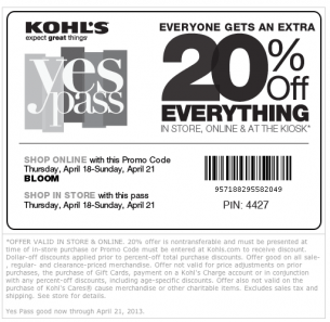 Like Repin Kohls Coupons 20 Off Everything Free Printable