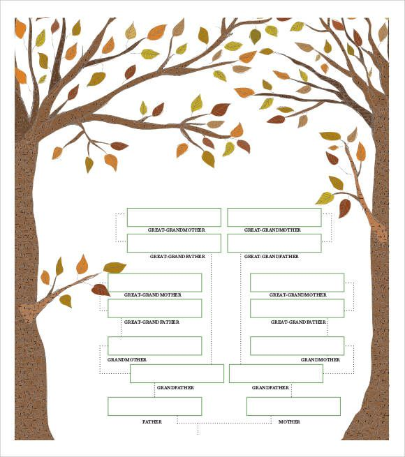 family-tree-chart-example Family tree templates Pinterest - family tree example