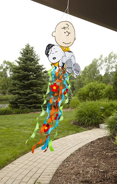 Spring Peanuts Charlie Brown With Snoopy Windsock · Garden FlagsCharlie ...