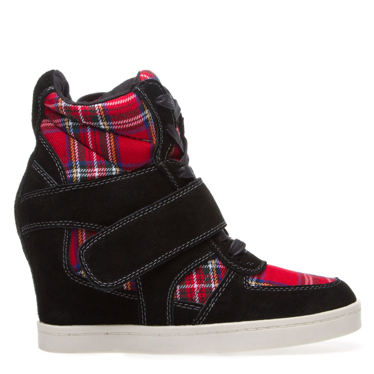 9170629c134 Plaid kicks! Love these! Like high heeled sneakers! Great for shorties like  me that want to look sporty but not short!