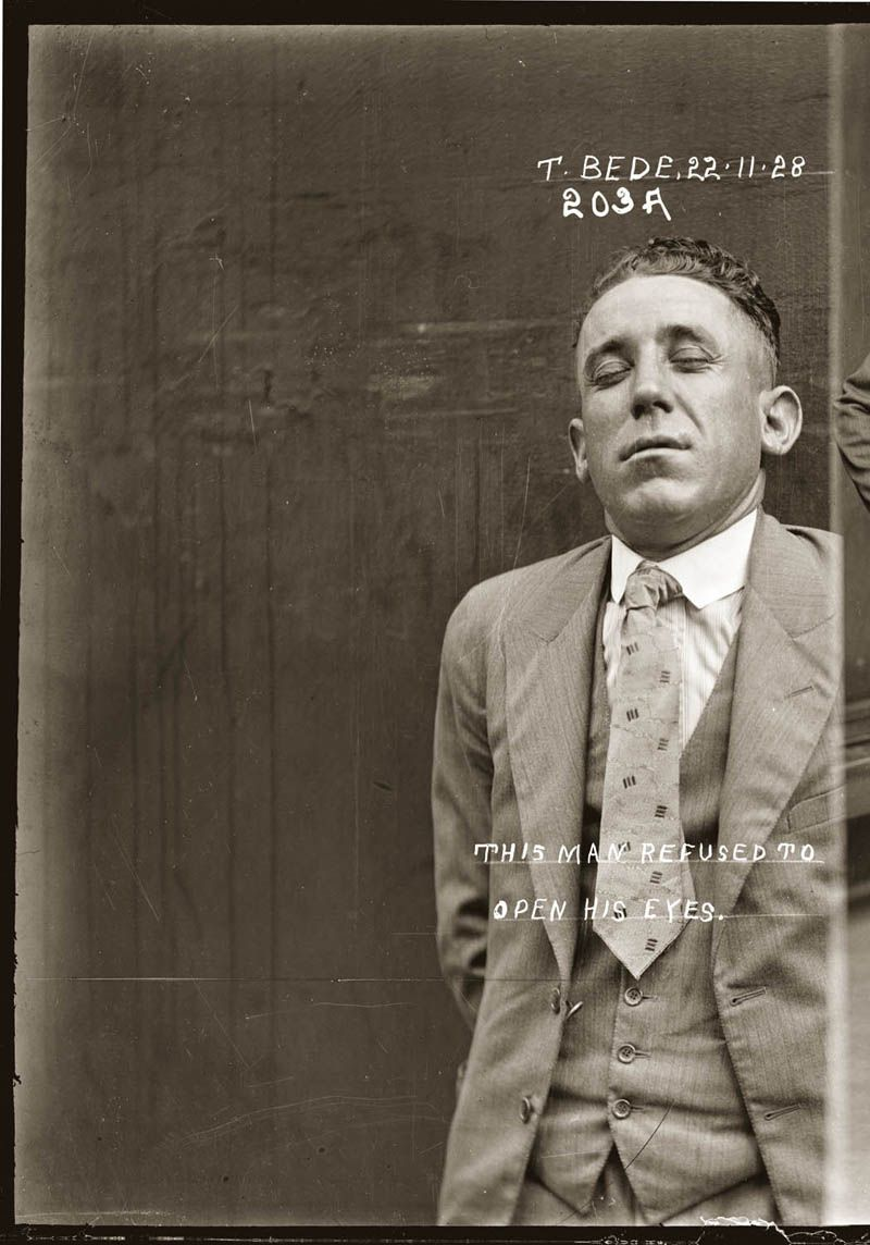 The vintage mugshots of shoplifters bank robbers and murderers from - 1928 Mugshot Via Twistedsifter Clicks Through