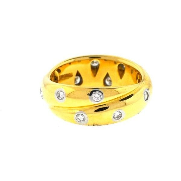 Pre-owned Tiffany & Co. Ring ($2,355) ❤ liked on Polyvore featuring jewelry, rings, apparel & accessories, yellow, preowned rings, tiffany co jewellery, twisted band ring, pre owned rings and twist ring