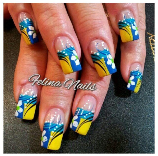 Flower Nail Art, Nails
