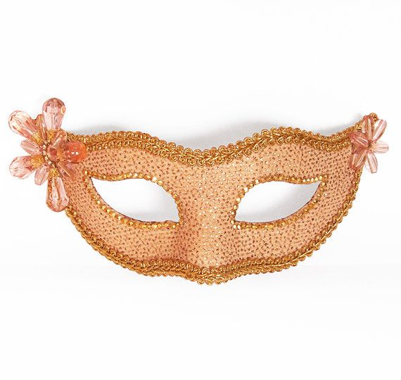Decorative Venetian Masks Interesting Light Pink  Nude And Gold Masquerade Mask  Glitter Venetian Mask Review