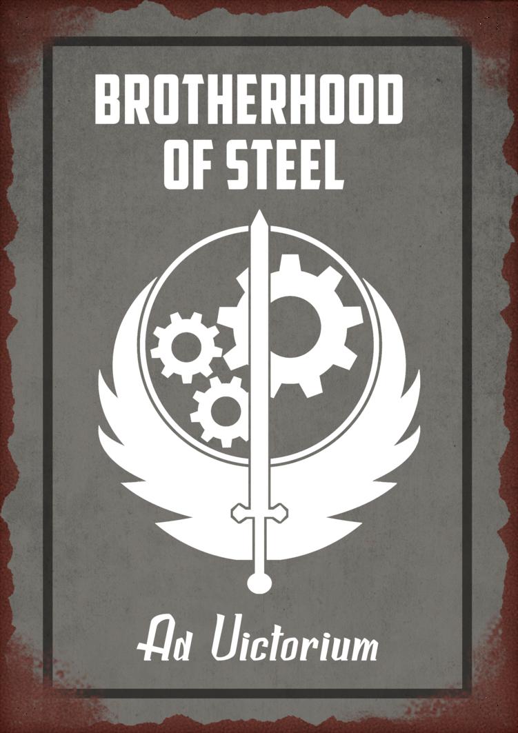 Fallout 4 Brotherhood Of Steel Tin Sign By Saintsational8 D9okpvg Png 751 1063 Fallout Art Fallout Posters Fallout Fan Art
