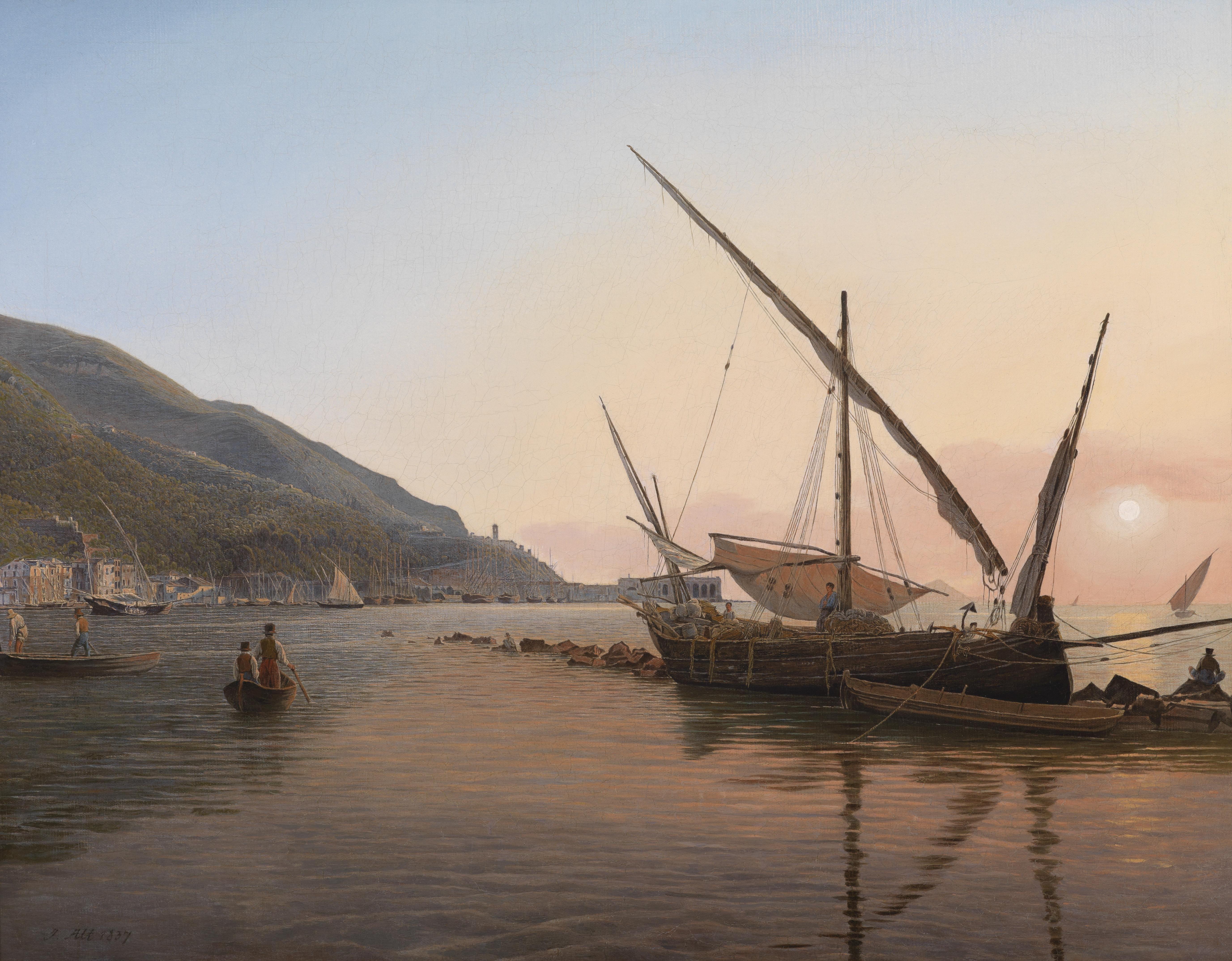 """""""Partie von Castellammare am Golf von Neapel"""", 1837, Jakob Alt"""