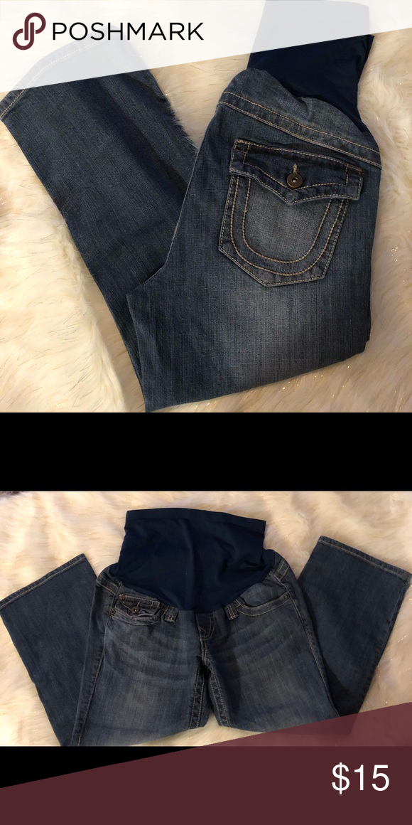 7cf52fb518720 A Pea In The Pod Maternity Jeans Size Small Very Cute maternity jeans by A  Pea