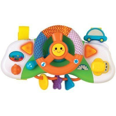 Winfun Baby Driver Stroller Car Seat SeatYour Can Drive Too While You Do With This Playful Dashboard And Steering Wheel Attach