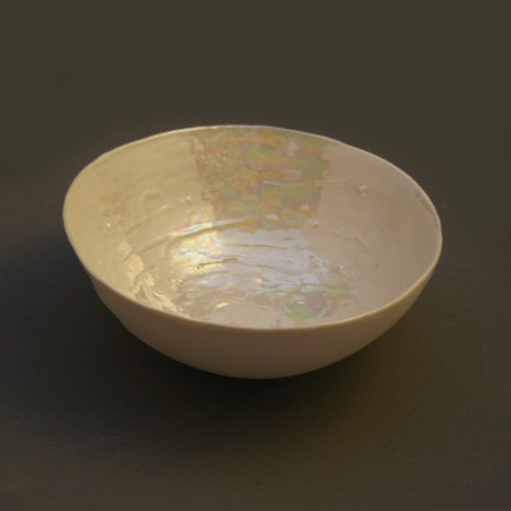 Ceramic Mother Of Pearl Bowl For Wedding By Melissaceramics