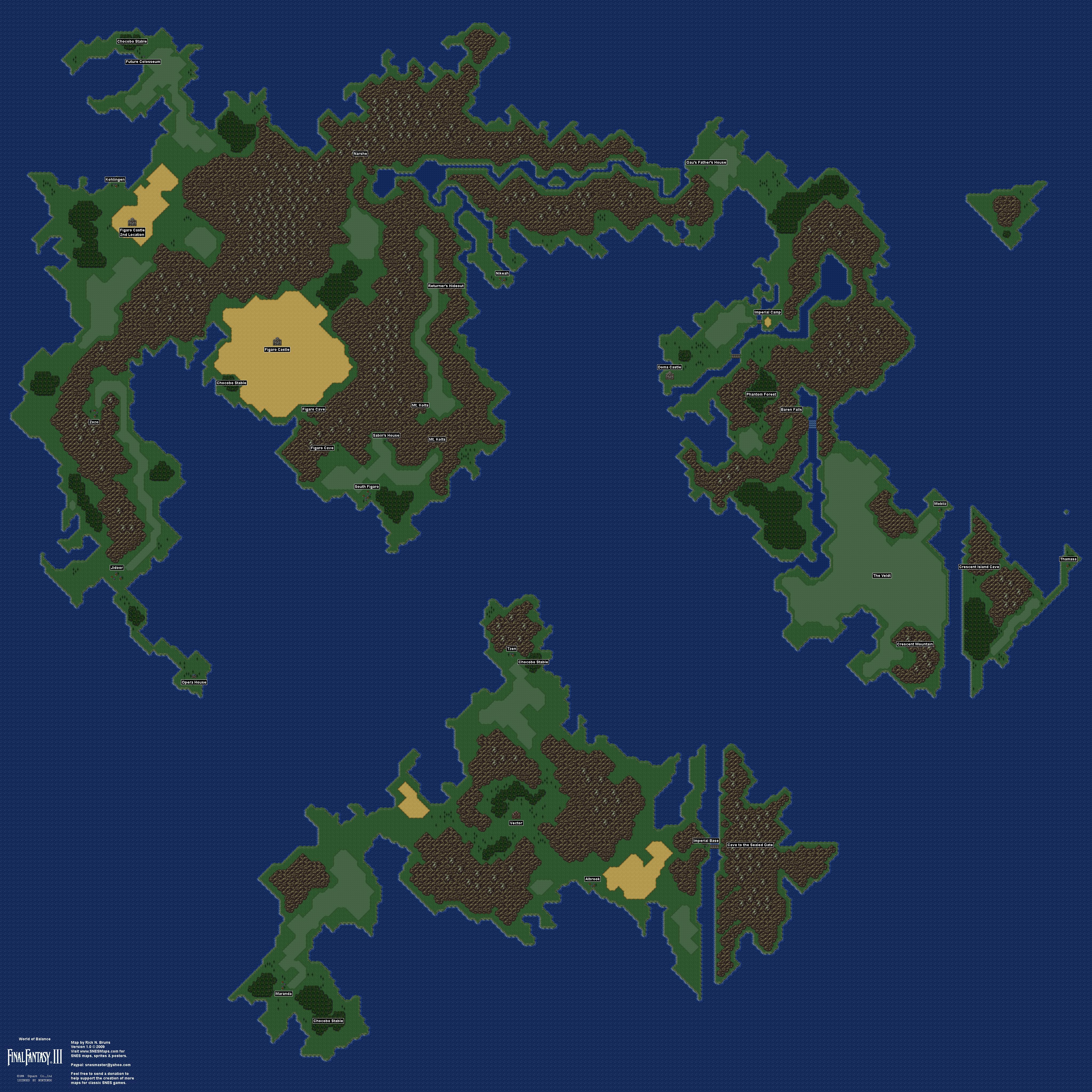 Final Fantasy 6 Map free ffvi map ffvi world map 99 best ...