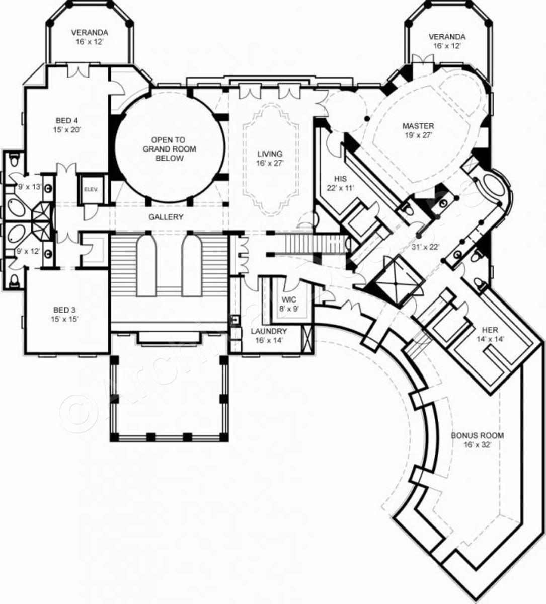 Villa Cornaro House Plan