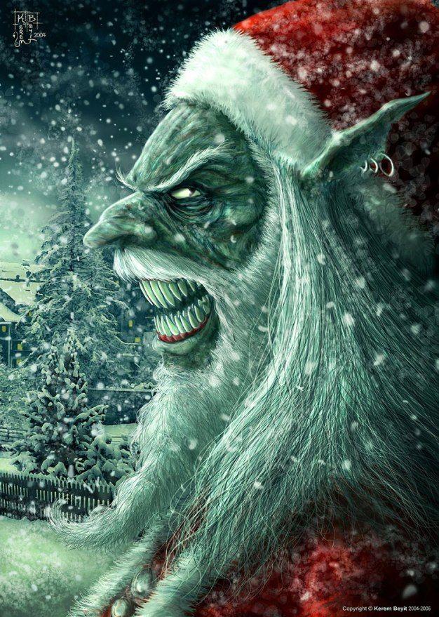 Bad Santa By Kerem Beyit Christmas Horror Scary Christmas Horror