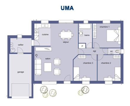 Plan De Maison 3 Chambres Modele Habitat Concept 90