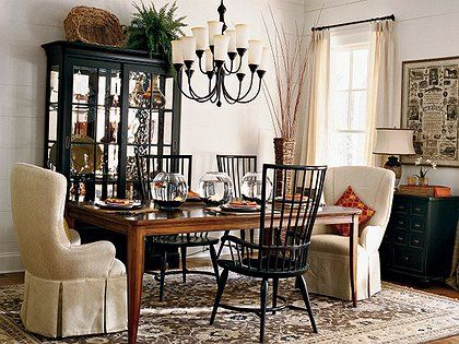 In That The Hutch Chairs And Table Are Different Finishestake Adorable Farmhouse Dining Room Furniture Inspiration