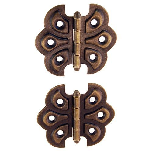 Restorers Classic Surface Mount Steel Ornamental Butterfly Hinge. Hinges  For CabinetsCabinet Door ... - Restorers Classic Surface Mount Steel Ornamental Butterfly Hinge